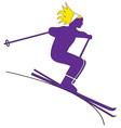 Downhill Skier Girl vector image