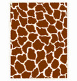 giraffe repeating pattern texture vector image