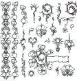 ornate floral elements vector image