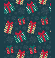 present boxes seamless pattern vector image