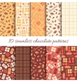 Set of ten abstract chocolate seamless patterns vector image