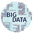 Text Composition Word Cloud Big Data vector image