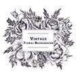 vintage floral composition vector image
