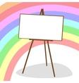 Molbert and rainbow vector image