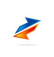 arrow colored sign logo vector image