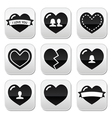 Lovehearts icons set for Valentines Day vector image vector image