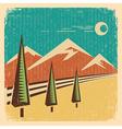 Vintage Nature landscape vector image vector image
