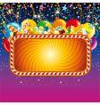 birthday feast billboard vector image vector image