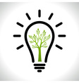 Modern infographic template Light bulb with Green vector image