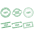 Yes stamps vector image