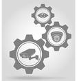 gear mechanism concept 06a vector image