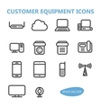 Communication Equipment Icons vector image