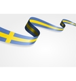 Swedish flag background vector image
