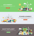 Flat designed banners Eco Energy vector image vector image