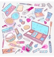 Products for makeup and beauty vector image