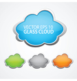 Set of 4 glossy clouds for text vector image