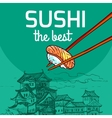 best sushi vector image