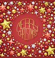 christmas background with shining stars and vector image