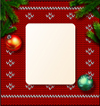 Christmas Greeting Card knitted vector image