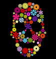 Flower skull in colors vector image