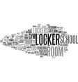 locker word cloud concept vector image