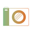 photo camera icon in degraded green to red color vector image