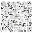 School education - doodles vector image