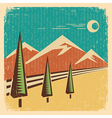 Vintage Nature landscape vector image