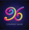 x letter logo icon blending color vector image