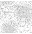Halloween seamless pattern Spider web background vector image vector image