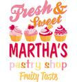 Martha pastry shop vector image