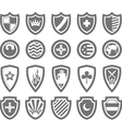 Abstract victorian arms on shields vector image vector image