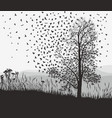 crows in a tree chestnut vector image vector image