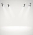 Photorealistic bright stage with spot lights vector image
