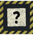 Question sign on asphalt in hazard frame EPS8 vector image vector image