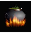 burning boiler vector image