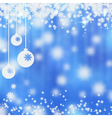 Christmas and New Year blue blurry background vector image