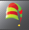 funky red and green stripped cartoon vector image