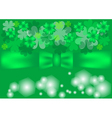 green background with clovers vector image