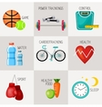 Healthy lifestyle concept icons set vector image