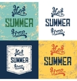 Set of four hot summer time backgrounds vector image