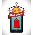 e-commerce deals sale icons vector image