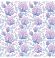 Soft purple flowers seamless pattern background vector image