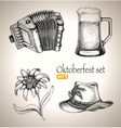 Sketch elements for oktoberfest festival vector image vector image