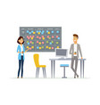 planning system - modern cartoon business vector image