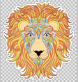 colorful head of lion vector image