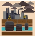 Power plant smokestacks emitting smoke vector image