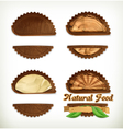 Leather stickers set design elements vector image vector image