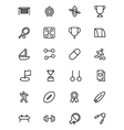 Sports Outline Icons 4 vector image