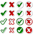 checkmark stickers vector image